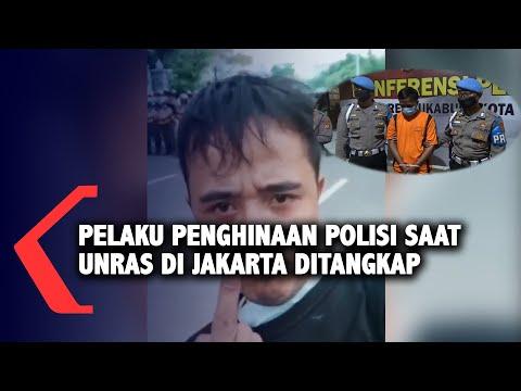 pelaku penghinaan polisi saat unras di jakarta ditangkap