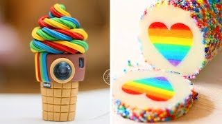 Colorful Birthday Cake Ideas | How To Make The Best Ever Rainbow Cake | So Yummy Cake Recipes