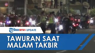 Aksi Lempar Batu dan Petasan saat Malam Takbir di Matraman, Langsung Diamankan Polisi