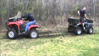 grizzly vs quad master atv pull off