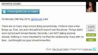 Joe & Demi Break Up May 24, 2010