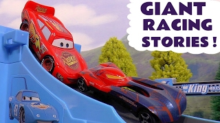 GIANT Racing Stories with Disney Cars Hot Wheels Superheroes and Thomas and Friends Toy Trains TT4U