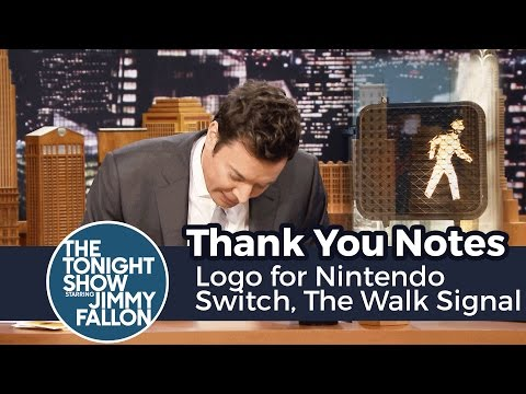thank you notes logo for nintendo switch the walk signal guy