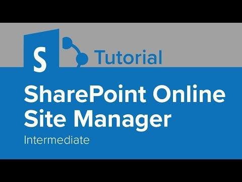SharePoint Online Site Manager Intermediate Tutorial - YouTube