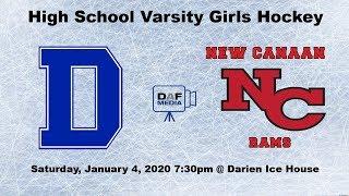 Darien Varsity Girls Hockey Vs. New Canaan