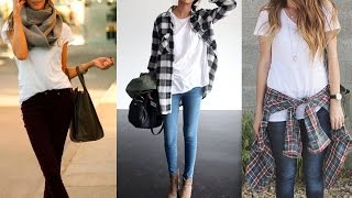 Winter Fashion Trends - 20 Style Tips On How To Wear A White T-Shirt This Winter