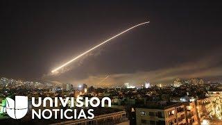 EEUU, Reino Unido y Francia lanzan un ataque conjunto contra centros de armas químicas en Siria - Video Youtube