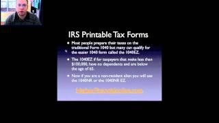 IRS Printable Tax Forms for 2012, 2013