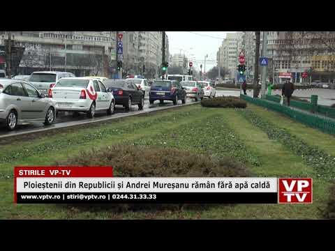 Ploieștenii din Republicii și Andrei Mureșanu rămân fără apă caldă