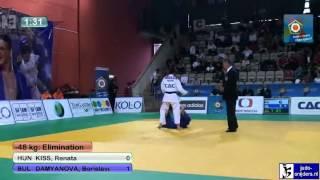 Judo 2012 European Championship U23 Prague: Kiss (HUN) - Damyanova (BUL) [-48kg]