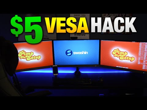 How to Mount Your Non-VESA Monitor for $5