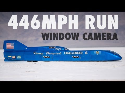 Danny Thompson's 446mph Speed Week Run - Window Cam