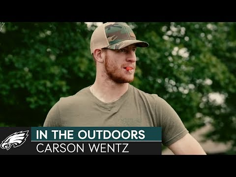 Philadelphia Eagles Quarterback Carson Wentz In The Outdoors