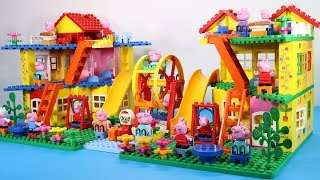 Peppa Pig Lego House With Water Slide Toys - Lego House Creations Toys For Kids #8