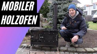 Mobiler Holzofen Rosalie für Camping, Prepper, Outdoor, Garten und Blackout