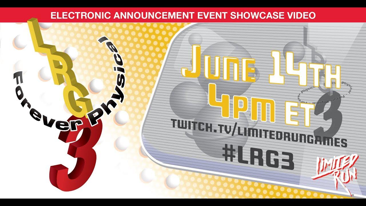 Limited Run Games presentation at E3 2021