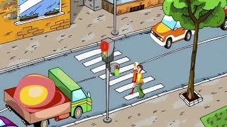 Как правильно переходить дорогу Зеленый сигнал светофора.