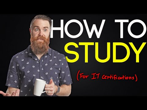 How to Study for IT Certifications (and KILL IT!!) - YouTube