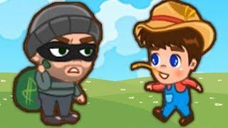 ПРИКЛЮЧЕНИЯ Фермера и Леди #2 ПОБЕГ ОТ ВРАЧЕЙ И ВОРИШЕК мультяшная игра с героями