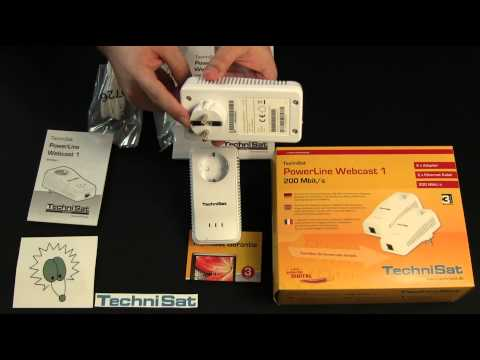 TechniSat Powerline Adapter Webcast 1 Unboxing & Kurzreview in Deutsch Lan Wlan