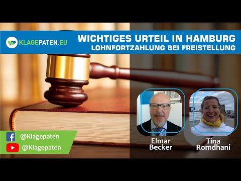 DE: 🔴 Wichtiges Urteil in Hamburg – Arbeitnehmer wehrt sich gegen Freistellung - RA Elmar Becker
