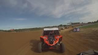 Rear View Pro Stock UTV Race 1 Rnd 13  TORC Series In Crandon  Polaris XP 1000