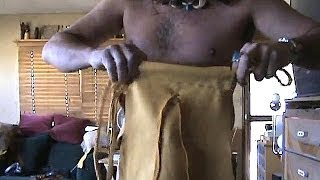 part 4 how to make a LEGAL leather loincloth, tarzan outfit