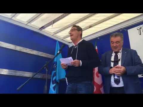 L'intervento conclusivo del segretario Cisl, Mimmo Lo Bianco, alla manifestazione di Cgil Cisl Uil per cambiare la Legge di Stabilità di sabato 14 ottobre