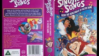 Sing Along Songs From Hunchback Of Norte Dame (1996, UK VHS)