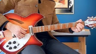 The Beatles - I Need You - Guitar Cover - Rickenbacker 360/12C63 - Gibson J-160E