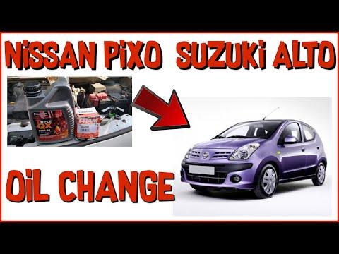NISSAN PIXO SUZUKI ALTO OIL AND FILTER CHANGE 1.0i 12V K10B engine