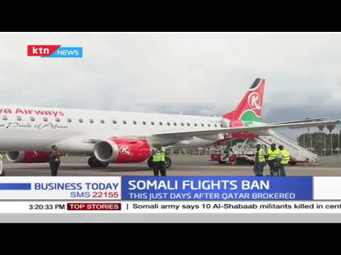 Kenya bans flights to/from Somalia