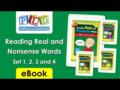 Reading real and nonsense words set 2: phonic concepts sh, ch, th, oo, ee and ck