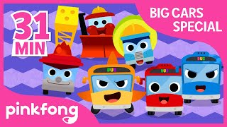 The Wheels On the Bus and more | Big Cars Special | +Compilation | Pinkfong Songs for Children