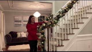 Christmas Garland | How To Put Up Stair Garland | Christmas Decor | Holiday Decor Video | DIY Decor