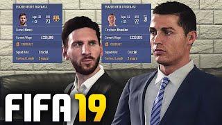 SIGNING RONALDO & MESSI IN FIFA 19 CAREER MODE!!!