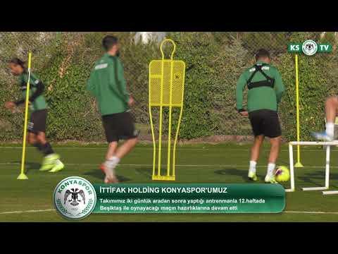 İttifak Holding Konyaspor'umuz Beşiktaş maçının hazırlıklarına yapılan antrenmanla devam etti