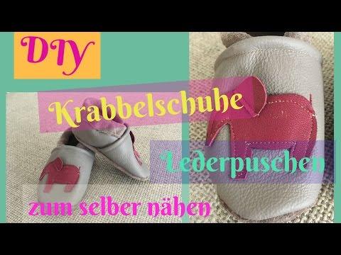 DIY Krabbelschuhe/Lederpuschen zum selber nähen/ Nähanleitung für Anfänger