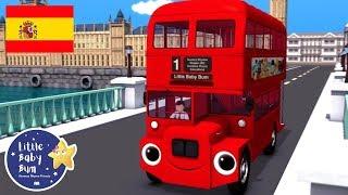 Canciones Infantiles | Las Ruedas del Autobús de Londres | Little Baby Bum en Español