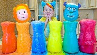 Делаем цветную пену и запоминаем цвета под английскую детскую песенку