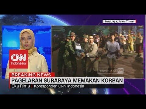 Pagelaran 'Surabaya Membara' Memakan Korban Tertabrak Kereta