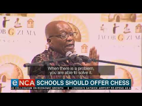 Zuma says schools should offer chess