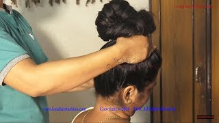 Oiled Thick Hair Play, Oiled Hair Big Bun Making & Oiled Hair Brushing