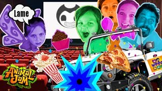 CATCHING A MOVIE AND CRASHING LAME PARTIES ON ANIMAL JAM! | WPFG FAMILY JAM GAME NIGHT