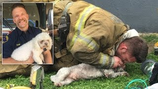 Dog Owner Thankful That Firefighter Gave Life-Saving CPR: I Thought He Was Dead