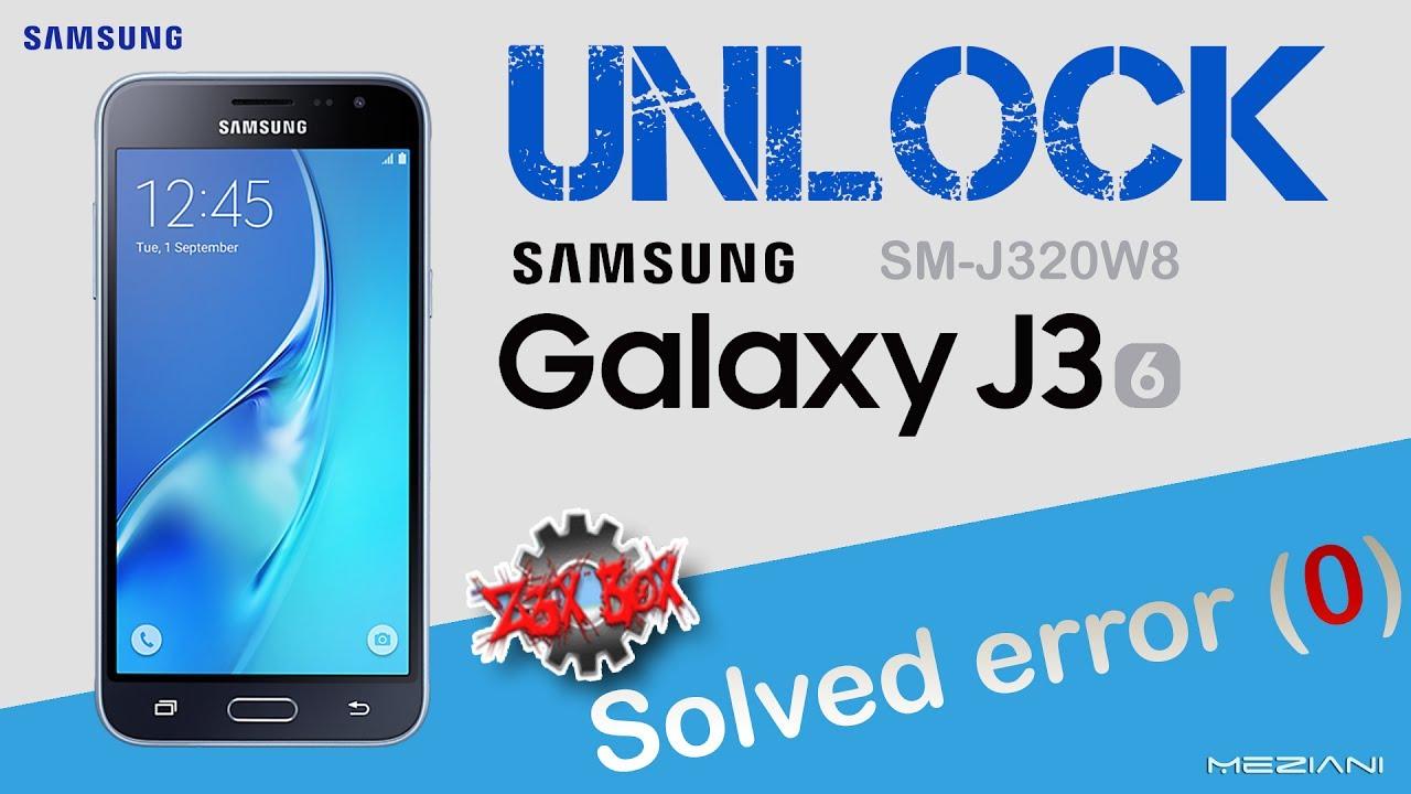 Unlock SAMSUNG GALAXY J320W8 by Z3X Solved error 0 - Meziani