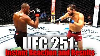 UFC 251 (Kamaru Usman vs Jorge Masvidal): Reaction and Results