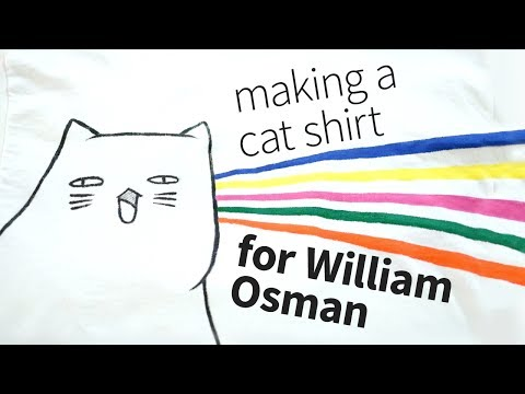 Making a cat shirt for William Osman