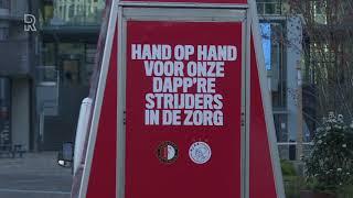 Feyenoord en Ajax toch in actie, maar dan voor zorgverleners