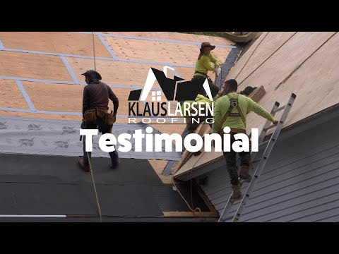 Customer Maureen McCall talks about her experience with Klaus Larsen Roofing for a full roof replacement in Lebanon CT. Sales consultant Tom Thompson.